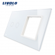 Platine vierge 2 boutons tactile + 1 emplacement vide