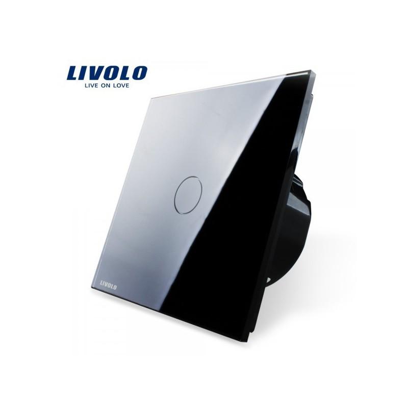 interrupteur impulsion tactile livolo verre securit design haut de gamme. Black Bedroom Furniture Sets. Home Design Ideas