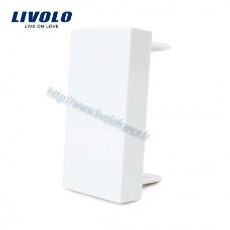 Cache simple blanc pour interrupteurs modulables