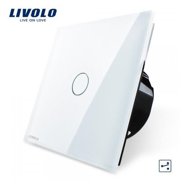 Interrupteur va et vient 1 bouton - 2 voies design LIVOLO de luxe en verre