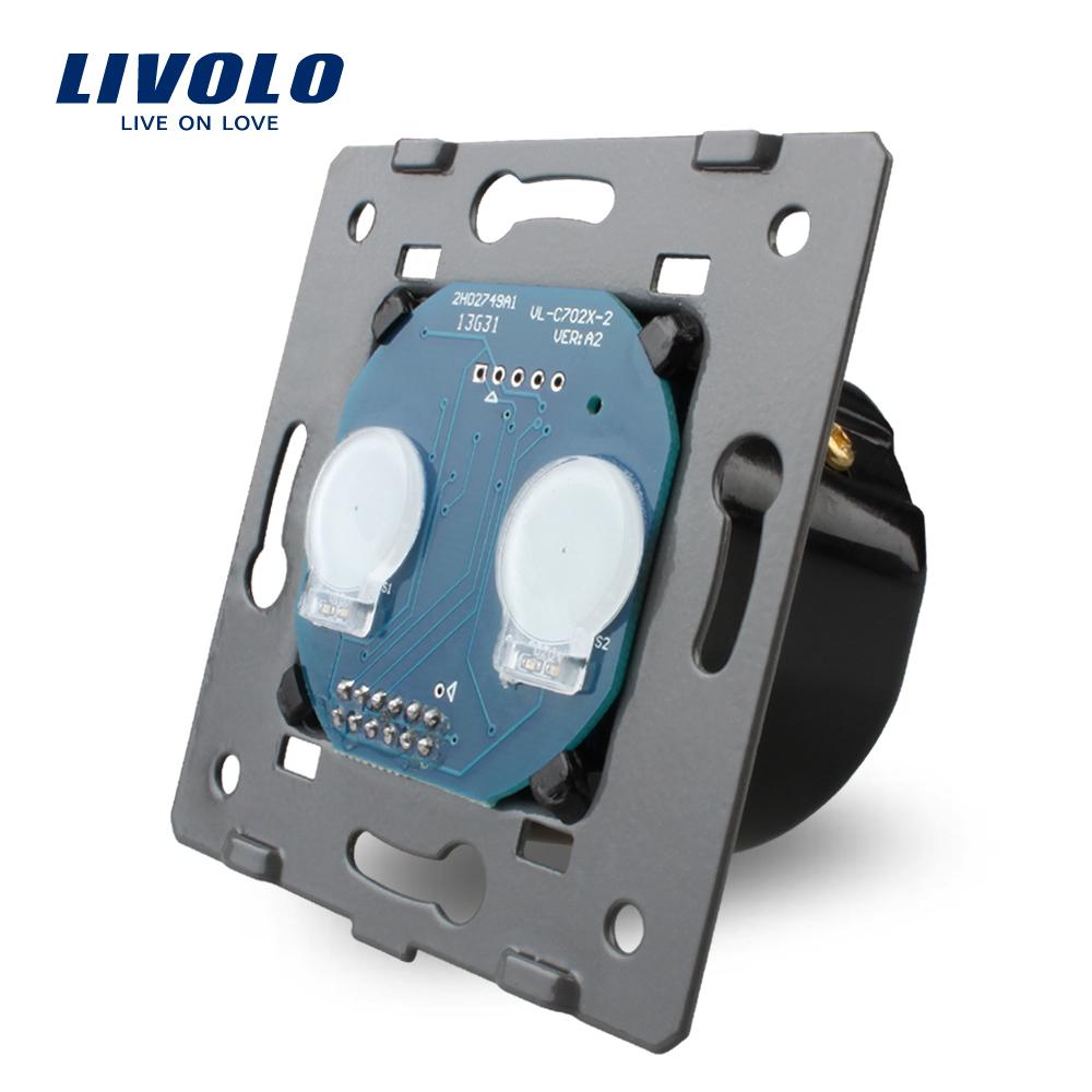 Interrupteur 2 bouton - 1 voie tactile design livolo