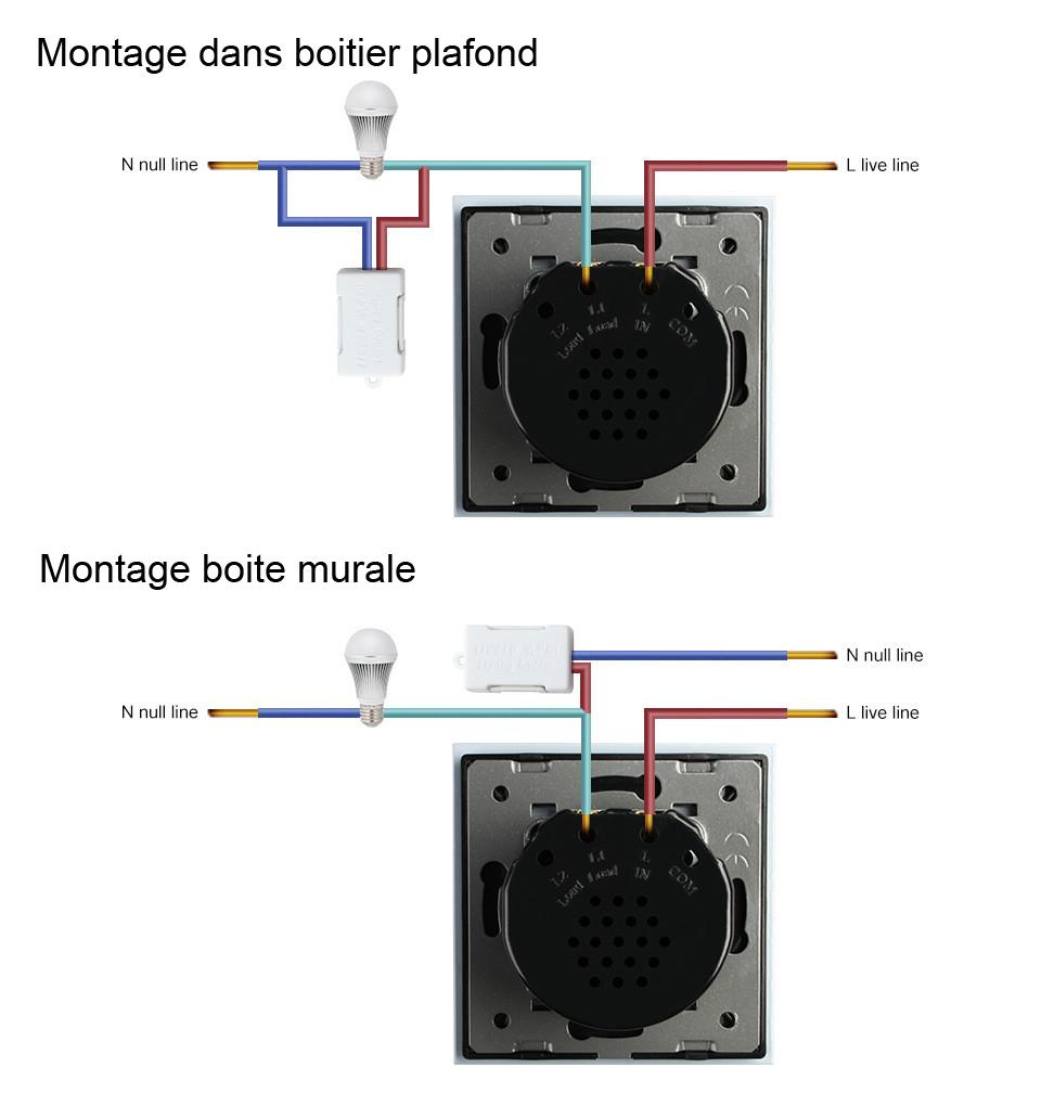 Schéma de cablage adaptateur anti clignotement