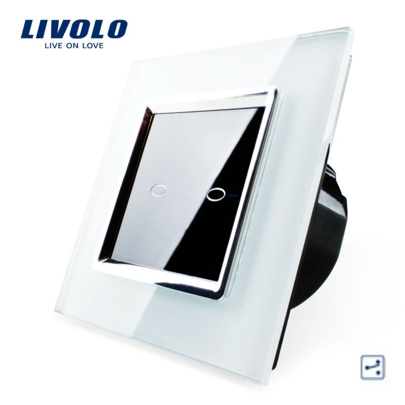 Interrupteur 2 boutons 2 voies design LIVOLO de luxe en verre