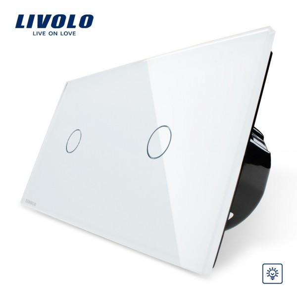 Dimmer Lichtschalter Glas Touchscreen Doppelschalter VL-C701D-11 VL-C701D-11