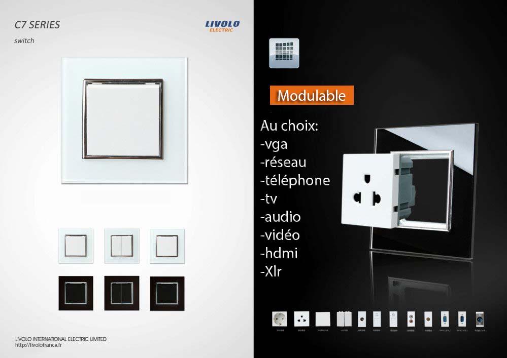 Interrupteur modulable design LIVOLO de luxe en verre